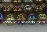 CNC263 15.5 inches 8mm round plated natural white crystal beads