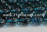 CNC424 15.5 inches 12mm round dyed natural white crystal beads