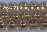 CNC503 15.5 inches 10mm round dyed natural white crystal beads