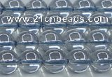 CNC511 15.5 inches 10mm round dyed natural white crystal beads