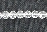 CNC52 15.5 inches 8mm faceted round grade A natural white crystal beads