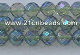 CNC626 15.5 inches 4mm faceted round plated natural white crystal beads