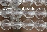 CNC701 15.5 inches 4mm faceted round white crystal beads