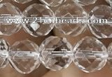 CNC703 15.5 inches 8mm faceted round white crystal beads