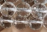 CNC713 15.5 inches 8mm faceted round white crystal beads