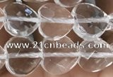 CNC735 15.5 inches 8*8mm faceted heart white crystal beads