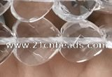 CNC737 15.5 inches 12*12mm faceted heart white crystal beads