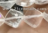 CNC753 15.5 inches 8*8mm faceted diamond white crystal beads