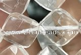 CNC755 15.5 inches 12*12mm faceted diamond white crystal beads