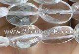 CNC762 15.5 inches 8*12mm faceted oval white crystal beads