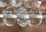 CNC800 15.5 inches 7*11mm faceted rondelle white crystal beads