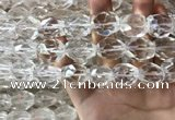 CNC806 14*18mm - 18*20mm faceted nuggets white crystal beads