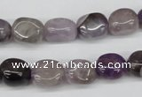 CNG04 15.5 inches 9*12mm nuggets amethyst gemstone beads