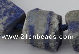 CNG1012 15.5 inches 15*25mm - 25*30mm nuggets lapis lazuli beads
