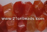 CNG1025 15.5 inches 10*14mm - 15*20mm faceted nuggets carnelian beads