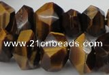 CNG1027 10*14mm - 15*20mm faceted nuggets yellow tiger eye beads
