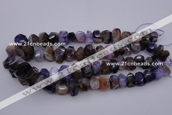 CNG1071 15.5 inches 10*14mm - 15*20mm faceted nuggets agate beads