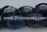 CNG1091 15*20mm - 18*25mm faceted nuggets lapis lzuli & chrysocolla beads