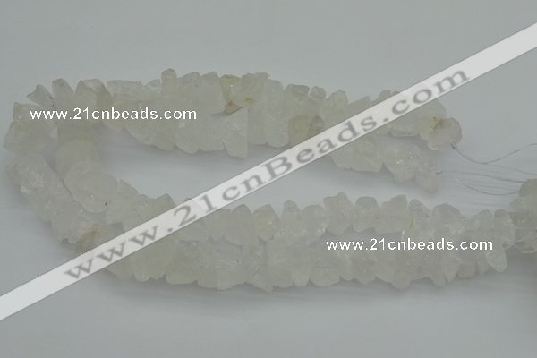 CNG1128 15.5 inches 8*12mm - 13*18mm nuggets white crystal beads