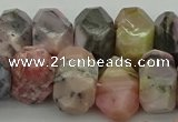 CNG1172 12*16mm - 15*20mm faceted nuggets pink opal gemstone beads