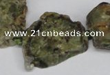 CNG1429 15.5 inches 20*30mm - 30*40mm freeform green garnet beads