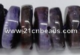 CNG1465 15.5 inches 12*35mm nuggets agate gemstone beads