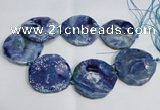 CNG1553 15.5 inches 50*52mm faceted freeform agate beads
