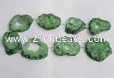 CNG1564 30*40mm - 40*50mm freeform plated druzy agate beads