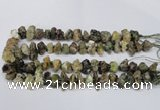 CNG1598 15.5 inches 10*14mm - 15*20mm nuggets green garnet beads