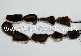 CNG1615 15.5 inches 25*35mm - 30*45mm freeform agate gemstone beads