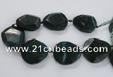 CNG1630 15.5 inches 40*45mm - 45*50mm faceted freeform agate beads