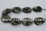 CNG1632 15.5 inches 30*40mm - 35*45mm faceted freeform agate beads