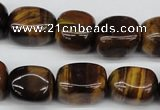 CNG18 15.5 inches 12*17mm nuggets yellow tiger eye gemstone beads