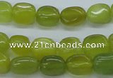CNG204 15.5 inches 8-9mm*10-12mm nuggets Korean jade gemstone beads