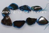 CNG2144 15.5 inches 30*40mm - 35*45mm freeform agate gemstone beads