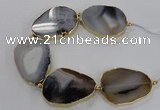 CNG2146 7.5 inches 40*50mm - 45*55mm freeform Montana agate beads