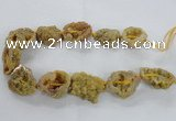 CNG2158 15.5 inches 25*35mm - 35*40mm nuggets druzy agate beads