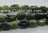 CNG222 15.5 inches 7*9mm nuggets canadian jade gemstone beads