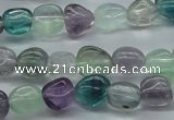 CNG226 15.5 inches 8-10mm*12-14mm nuggets fluorite gemstone beads