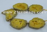 CNG2338 7.5 inches 40*50mm - 55*60mm freeform druzy agate beads
