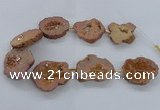 CNG2499 15.5 inches 30*40mm - 40*50mm freeform plated druzy agate beads