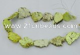 CNG2511 15.5 inches 25*30mm - 35*40mm freeform turquoise beads