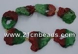 CNG2551 15.5 inches 30*40mm - 45*50mm freeform druzy agate beads
