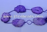 CNG2571 15.5 inches 45*50mm - 55*65mm freeform druzy agate beads