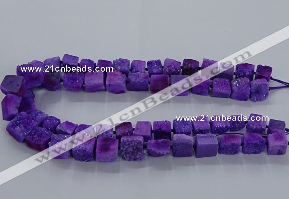CNG2619 15.5 inches 10*12mm - 14*16mm nuggets druzy agate beads