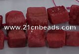 CNG2620 15.5 inches 10*12mm - 14*16mm nuggets druzy agate beads
