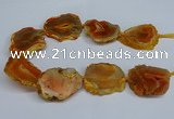 CNG2670 15.5 inches 30*40mm - 40*50mm freeform druzy agate beads