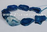 CNG2680 15.5 inches 30*40mm - 40*50mm freeform druzy agate beads