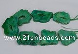 CNG2681 15.5 inches 30*40mm - 40*50mm freeform druzy agate beads