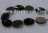 CNG2686 15.5 inches 28*40mm - 30*42mm freeform agate beads